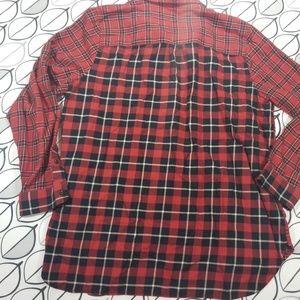 Madewell Tops - Madewell Ex-boyfriend Shirt Red Patchwork Plaid